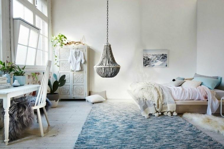 habitaciones en blanco estilo bohemio
