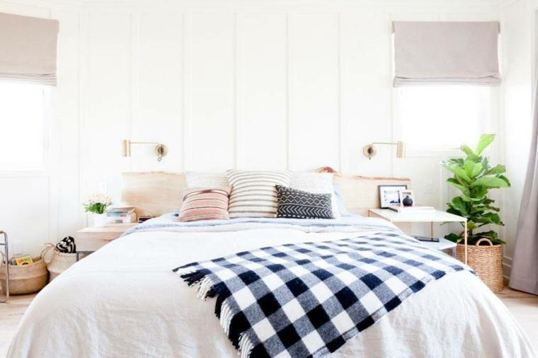 habitaciones en blanco estilo boho