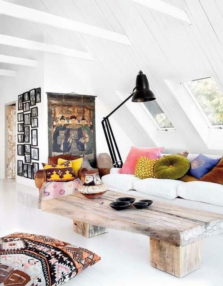 habitaciones en blanco interiores bohemios