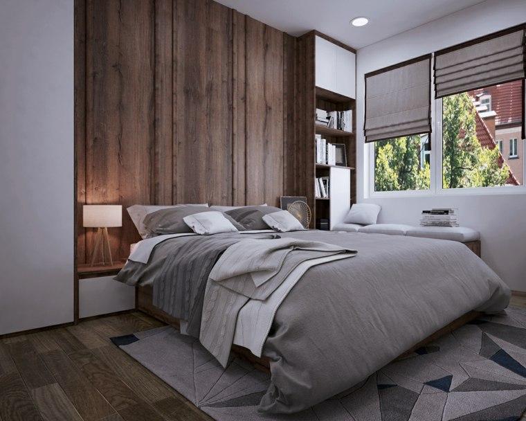 habitaciones grises decoracion madera