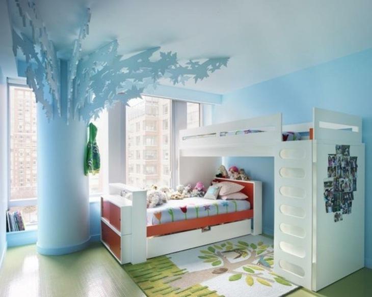 habitaciones infantiles ideas arboles alfombras