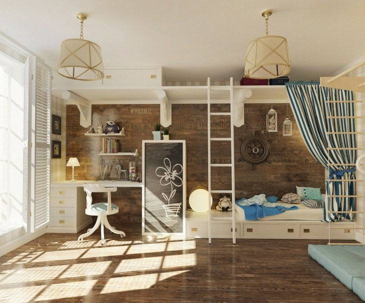 habitaciones infantiles ideas chicas materiales pizarra