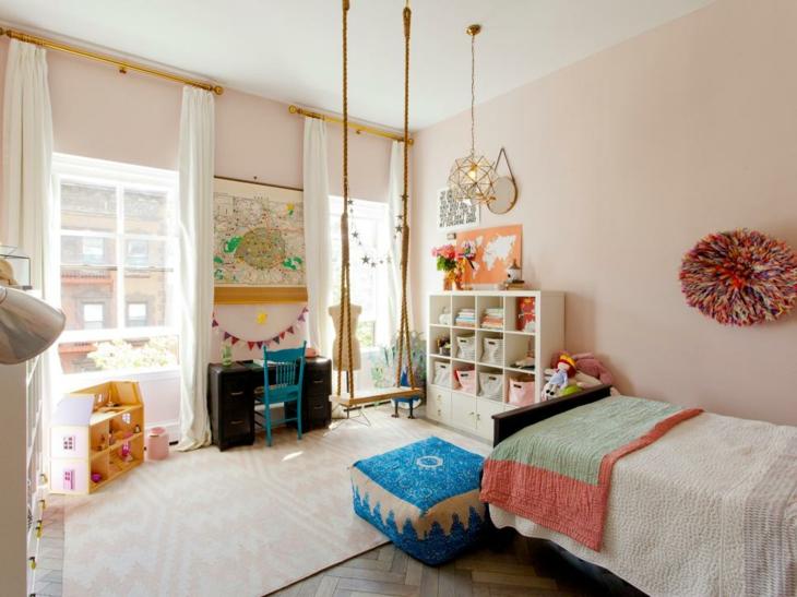 habitaciones infantiles ideas columpios chicas