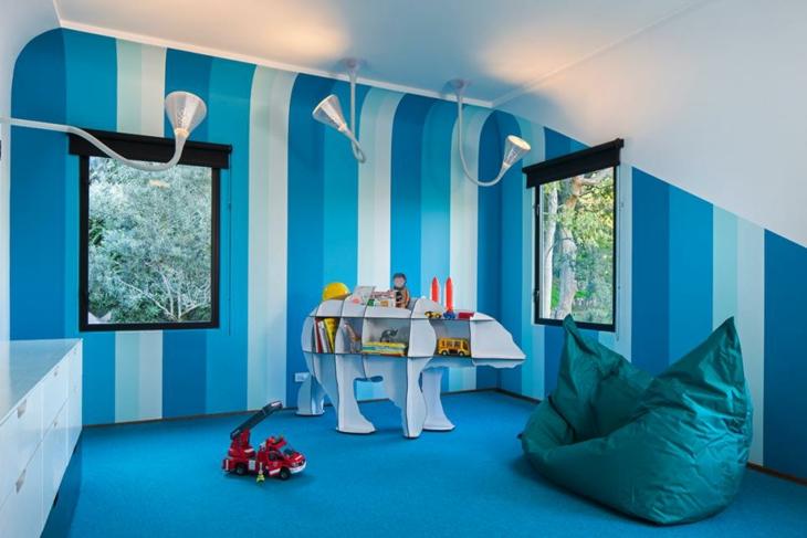 habitaciones infantiles ideas estantes listones