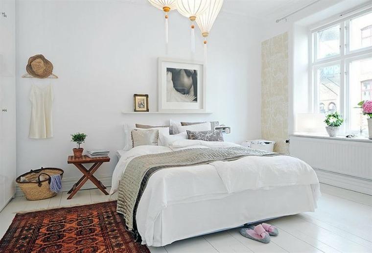 habitaciones en blanco de estilo bohemio y boho chic