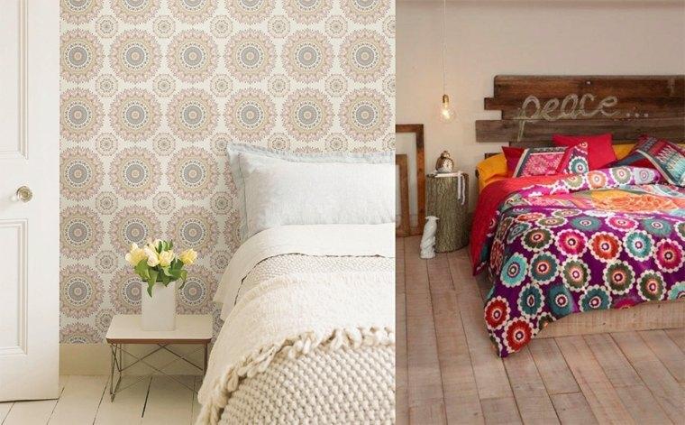 decoración de dormitorios en blanco bohemios