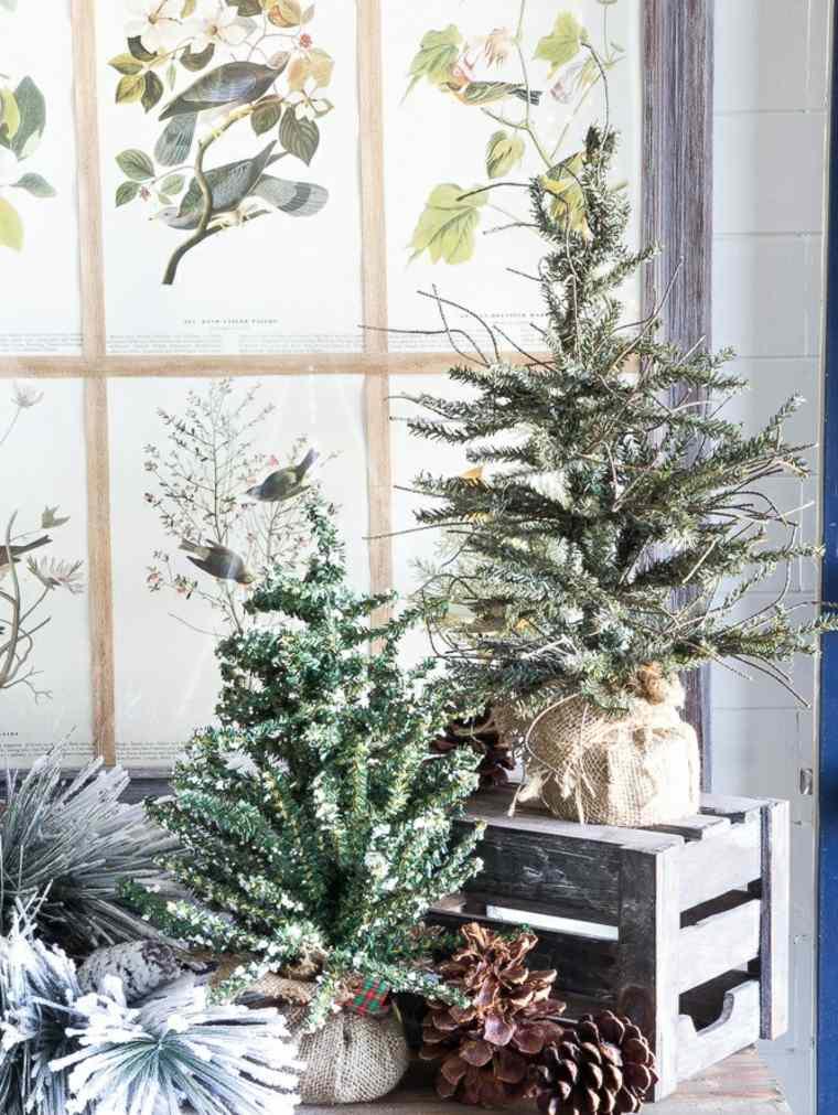 ideas decoracion navidad arboles navidad pequenos modernos