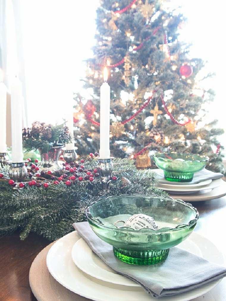 ideas decoracion navidad centro mesa original moderno