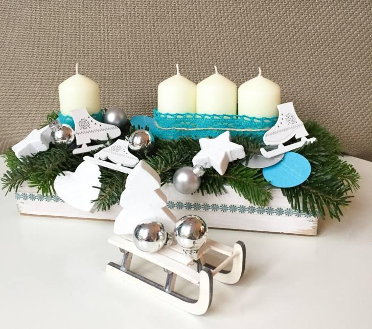 ideas decoracion navidad elementos originales candelabro