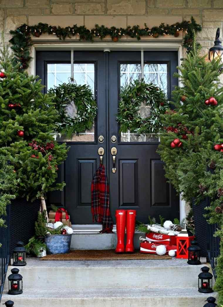 ideas decoracion navidad entrada casa opciones