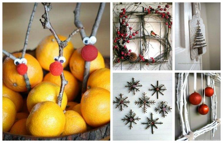 ideas decoracion navidad frutas ramas moderno