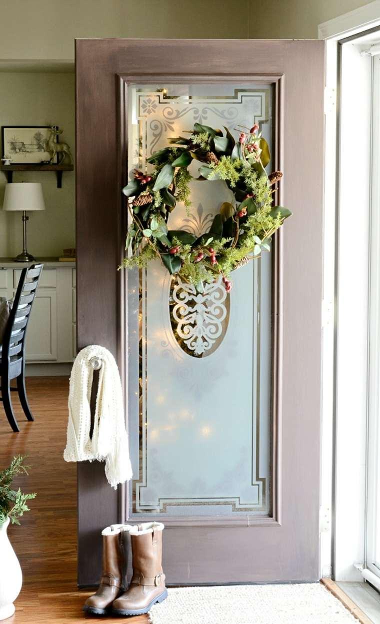 ideas decoracion navidad guirnalda puerta original