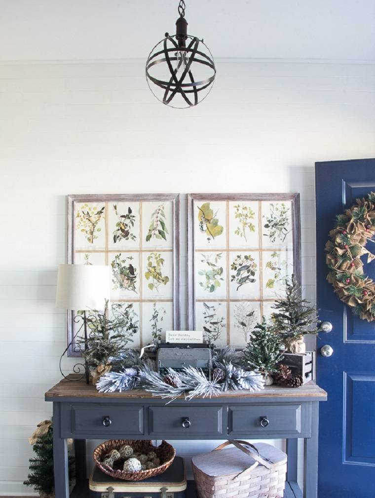 ideas decoracion navidad plantas ramas opciones moderno