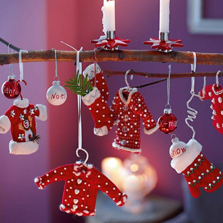 ideas decoracion navidad ropa miniatura adornos original