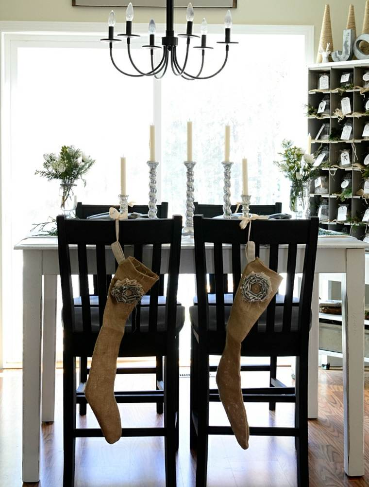 ideas decoracion navidad sillas comida ideas