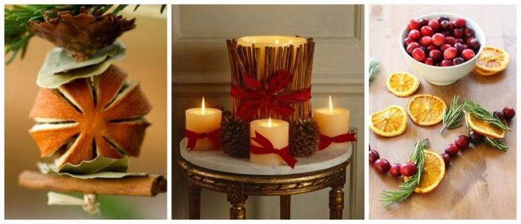 ideas decoracion navidad velas frutas opciones