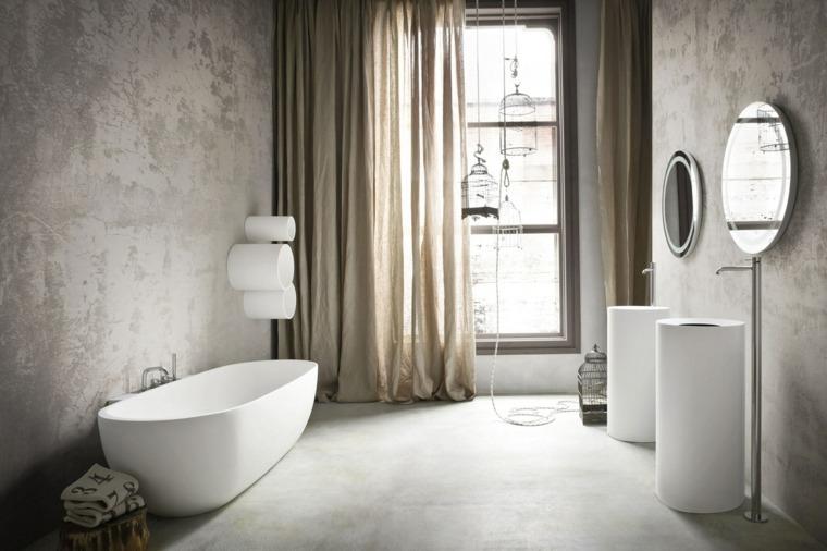 ideas para banos diseno contemporaneo lavabo blanco moderno