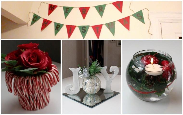 ideas sencillas decoracin navidad