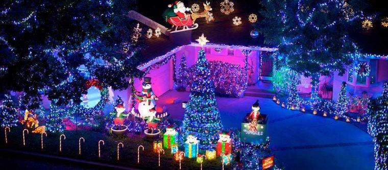 iluminación de navidad decorar