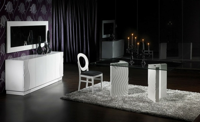 inteiores de diseño negros salón