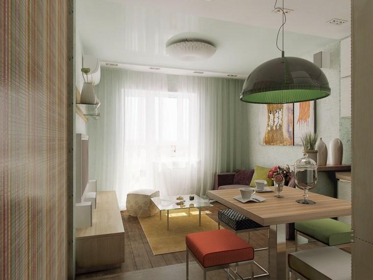 interesantes ambientaciones colores muebles verdes