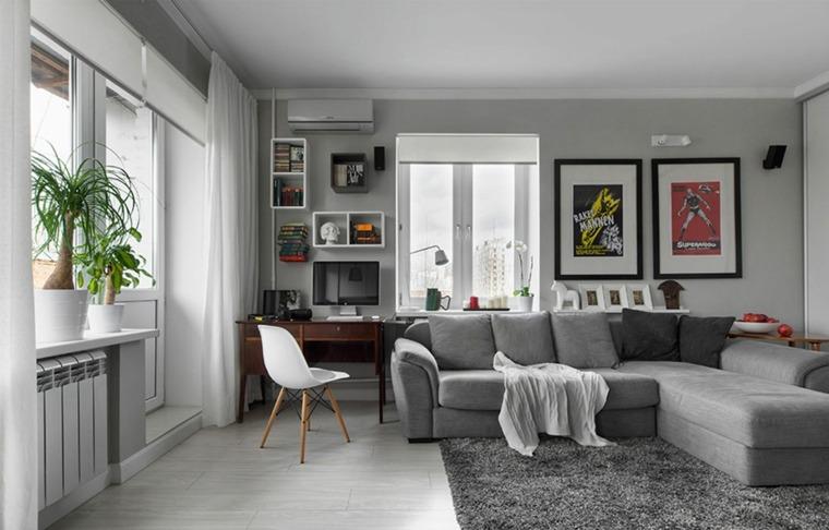 interior moderno de color gris