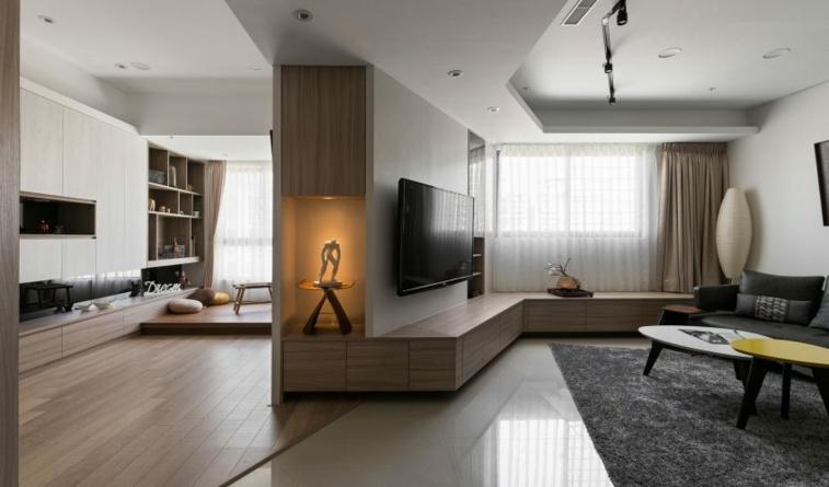 interior residencia moderna sala esta