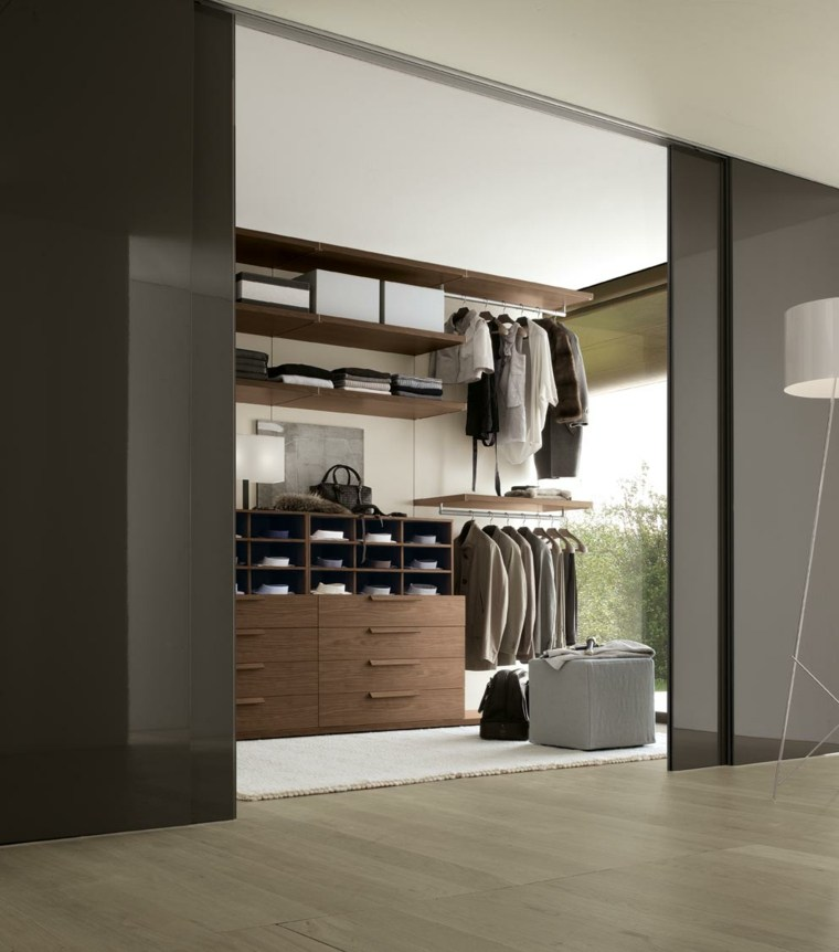 interiores de armarios ordenados hombres