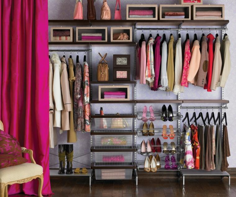 interiores de armarios organizados
