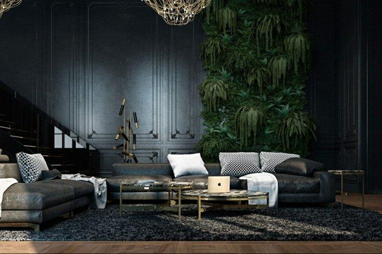 interiores de diseño negros