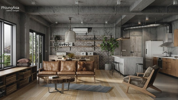 interiorismo asia concreto materiales suelos