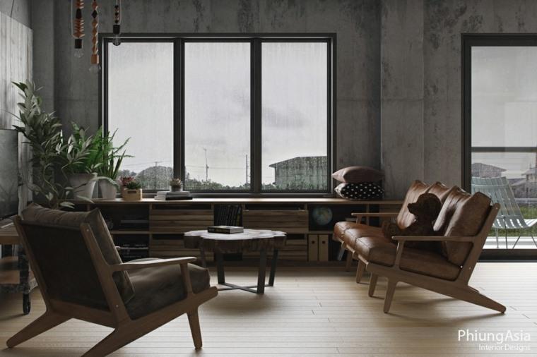 interiorismo asia confortable muebles ventanas