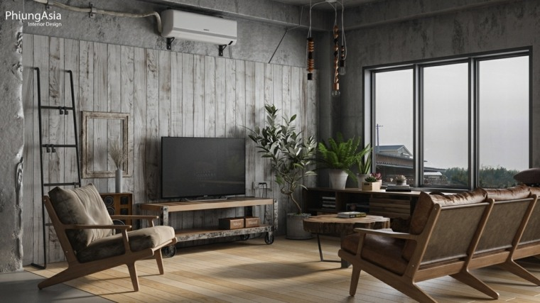interiorismo asia madera marrones listones