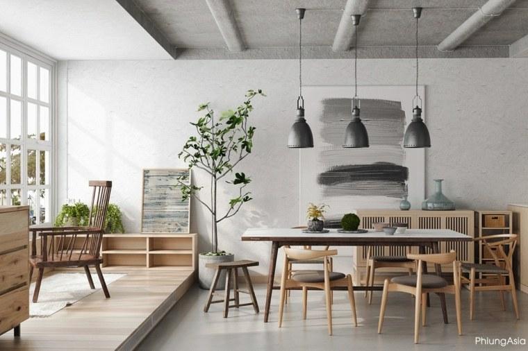 interiorismo asia salon madera efectos