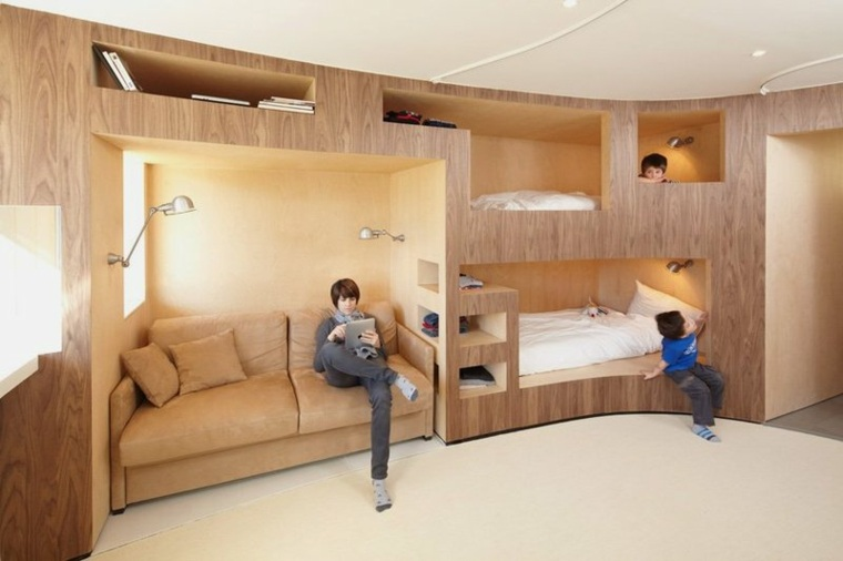 interior moderno pequeño madera