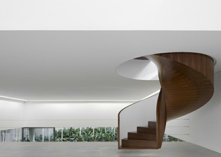 interior minimalista escaleras madera