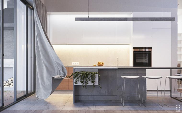 isla cocina cemento Zrobym Architects