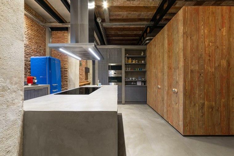 isla cocina cemento concreto