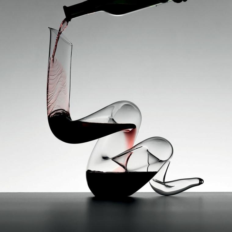 jarras de cristal modernas vino