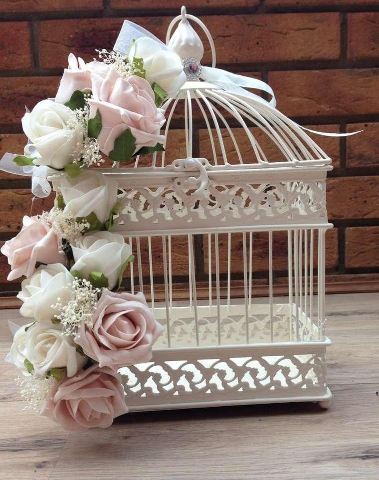 jaulas de decoración flores
