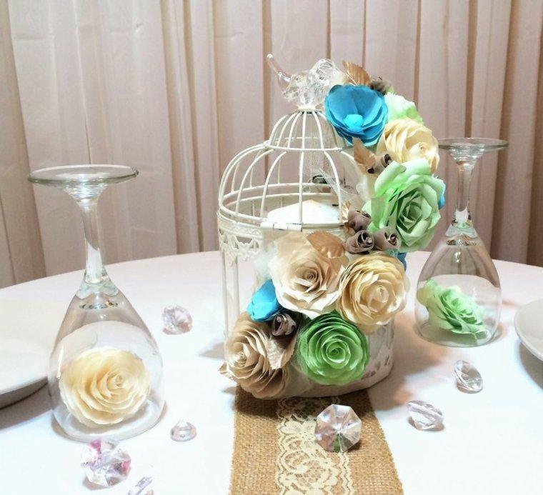 jaulas de decoración mesa