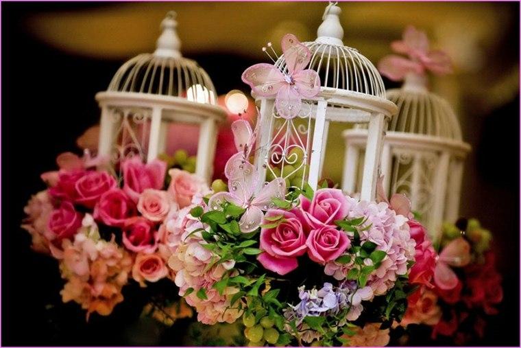 jaulas de decoración pájaros