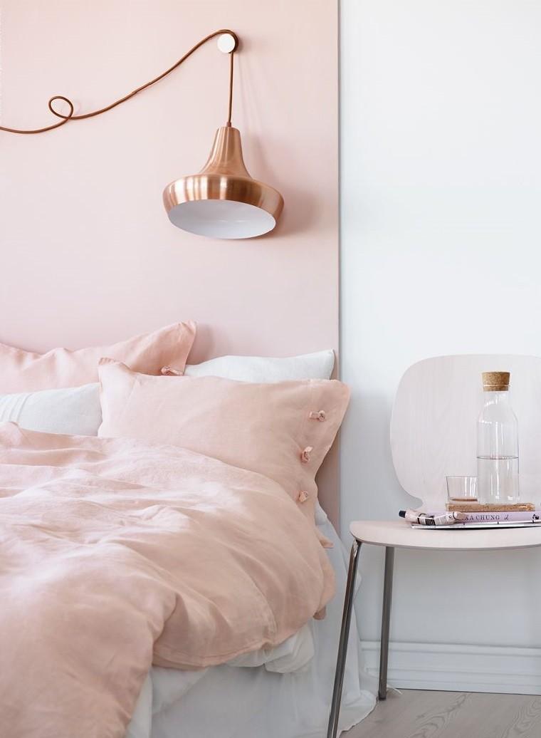Color rosa en combinaci n con dorado para el dormitorio - Ropa de cama lexington ...