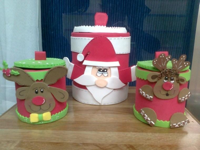 latas decoradas goma eva envases