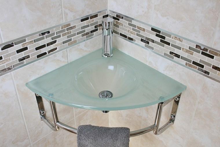 Lavabos de cristal para unos ba os elegantes - Lavabo de bano ...