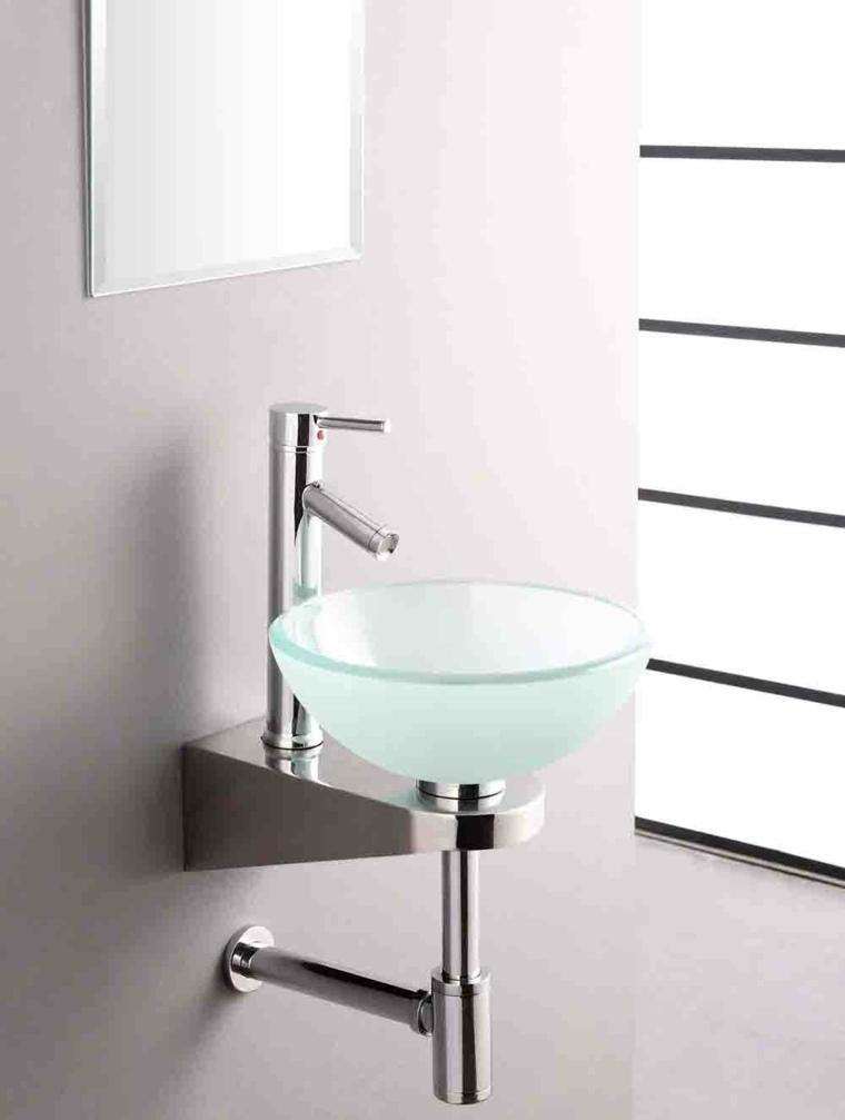 Lavabos de cristal para unos ba os elegantes for Lavabo bano pequeno