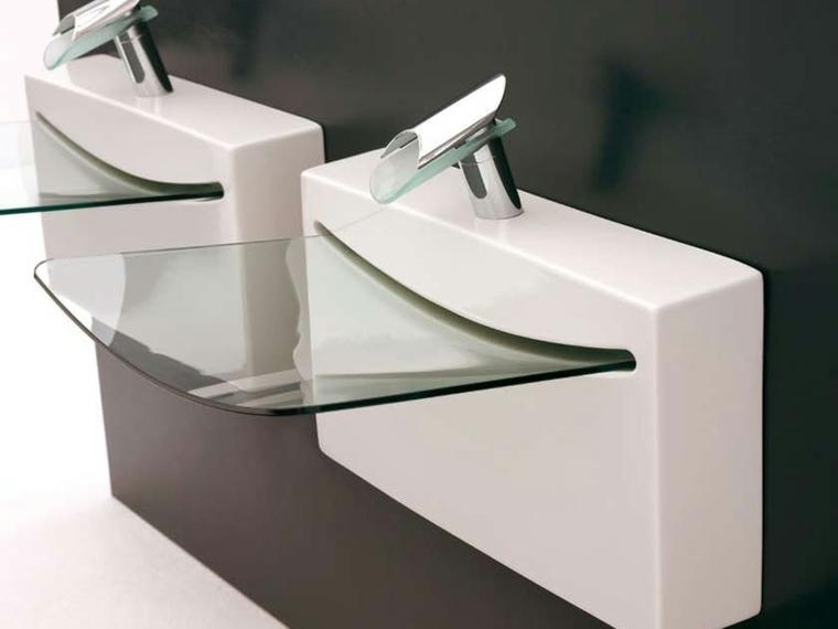 Lavabos De Cristal Para Unos Baos Elegantes