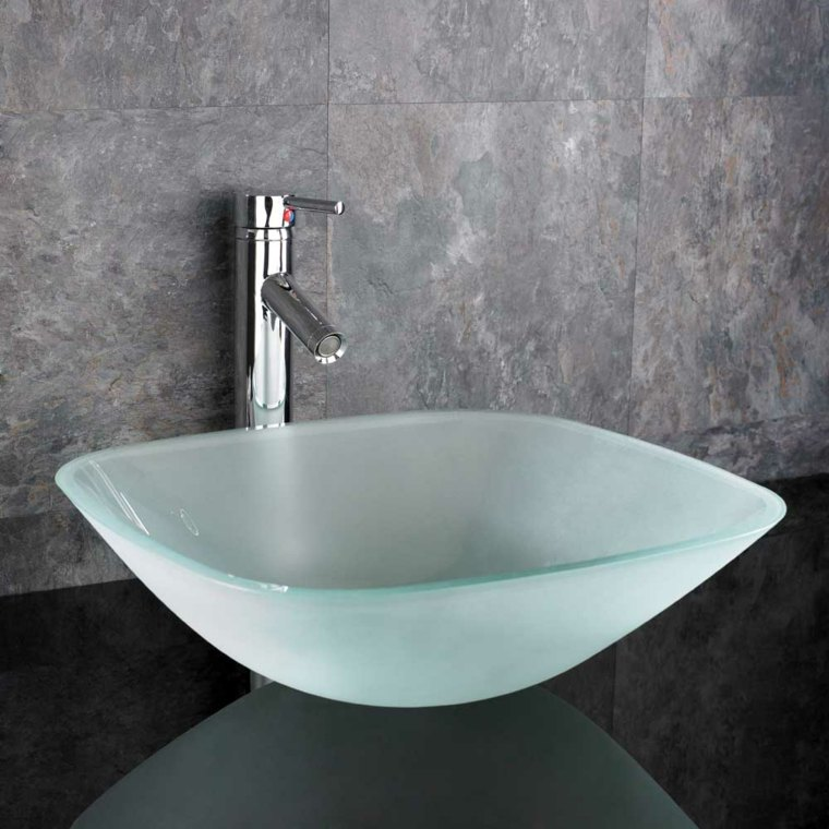 Lavabos de cristal para unos ba os elegantes - Lavabos de marmol para bano ...