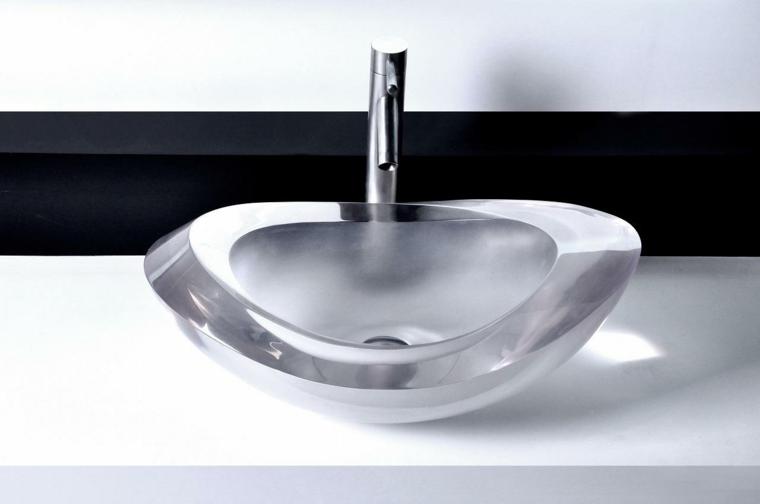 Lavabos de cristal para unos ba os elegantes for Lavamanos de cristal