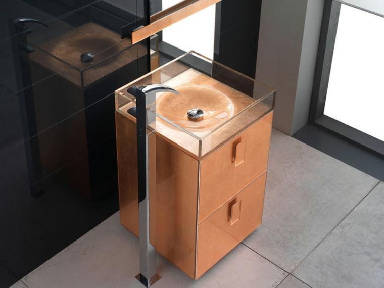 lavabos de cristal modernos decorar